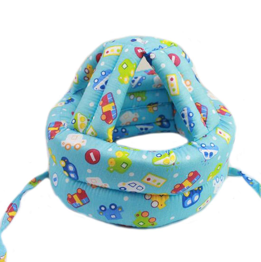 Ewanda store Toddler Infant Baby No Bumps Head Helmet Safety Helmet Children Headguard Head Cushion Bumper Bonnet,S,Blue Car