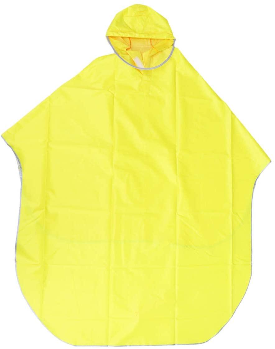 IMIKEYA Waterproof Hooded Rain Coat with Hat Brim Bicycle Rain Poncho Bike Rain Cape Rainwear Anti Saliva Anti-Spit Anti Splash Safety Coveralls for Adults Scooter Cycling (Yellow)