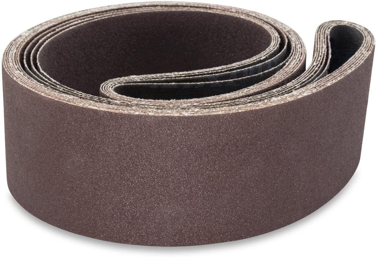 Red Label Abrasives 2 1/2 X 48 Inch 60 Grit Aluminum Oxide Metal Sanding Belts, 6 Pack