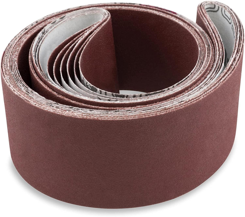 Red Label Abrasives 2 X 30 Inch 400 Grit Flexible Aluminum Oxide Multipurpose Sanding Belts, 6 Pack