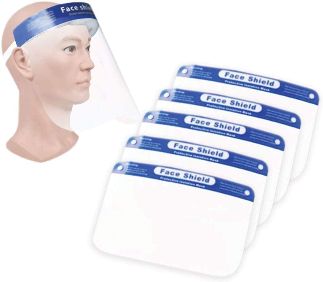 LYTIO 5 pcs Safety Transparent Face Cover Shield | Reusable & Breathable | Protect eyes and face | Light Weight, Clear Film & Comfortable Elastic Band (B089BVSWRZ)