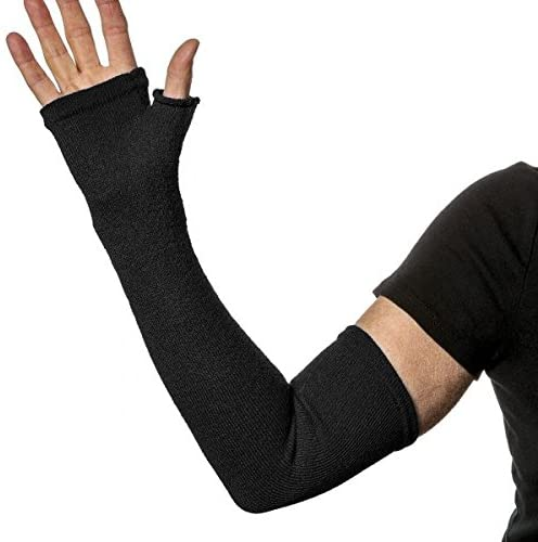 Limbkeepers Non-Compression Protective Long Sleeve Fingerless Gloves (Black)