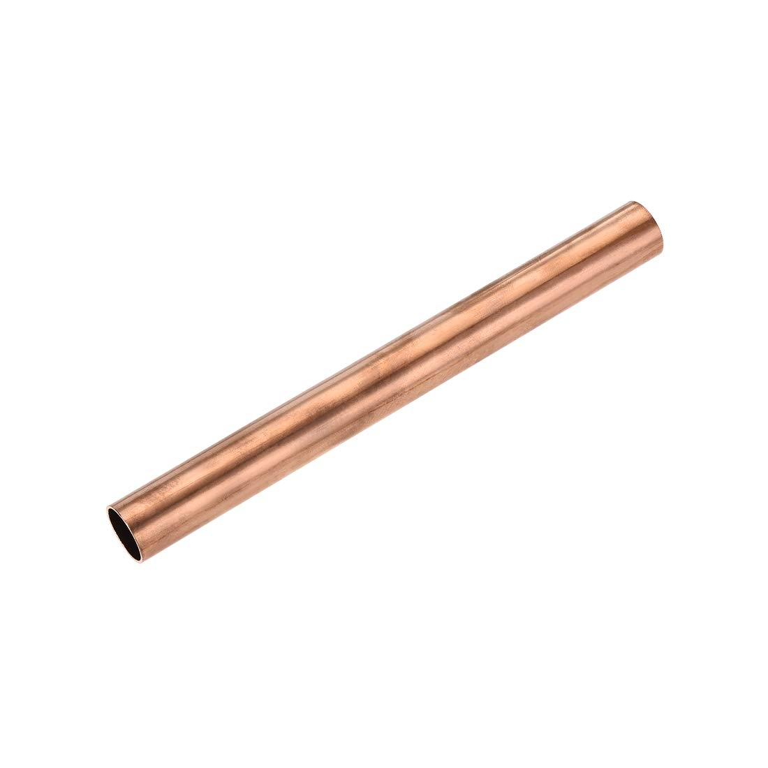 uxcell Copper Round Tube, 20mm OD 1mm Wall Thickness 200mm Length Straight Pipe Tubing