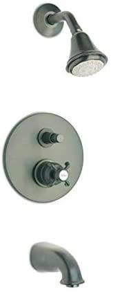 LaToscana 87PW797 Ornellaia Pressure Balance Valve Tub and Shower Set, Brushed Nickel Finish