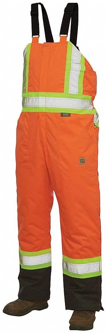 Hi-Vis Insulated Bibs, Flo Orange, 4X
