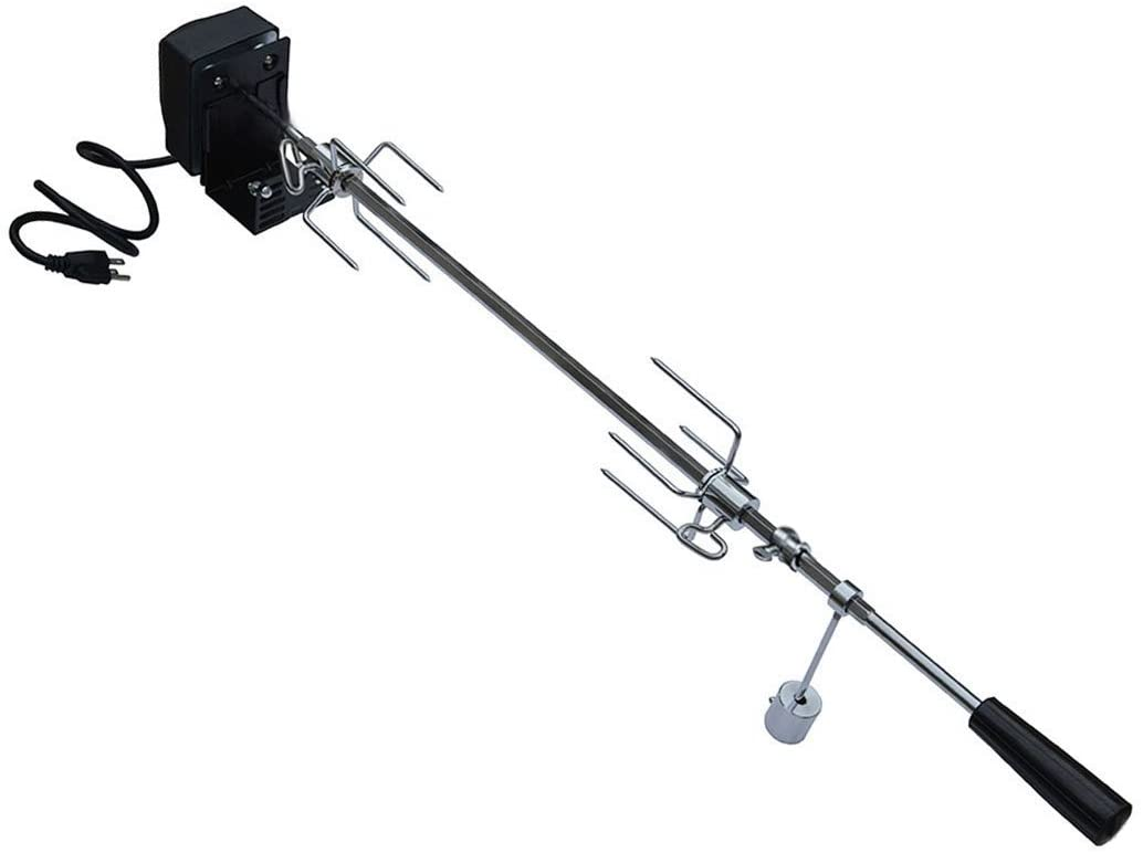 onlyfire 6019 Universal Rotisserie Kit for Most 2- and 3- Burner Grills(Excluding Weber Gas Grill, Char-Griller 5050 Duo), Hexagon Spit Rod 32 1/2