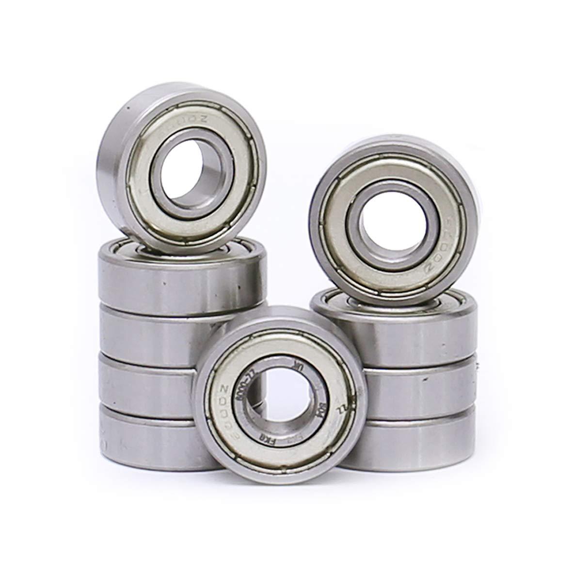 FKG 6000-ZZ 10x26x8mm Deep Groove Ball Bearing Double Metal Shields Bearing Pre-Lubricated 10 Pcs