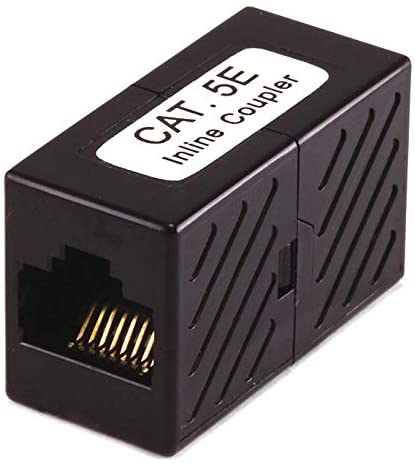 Black Inline Coupler, Number of Contacts: 8, Number of Positions: 8-7283 - Pack of 10