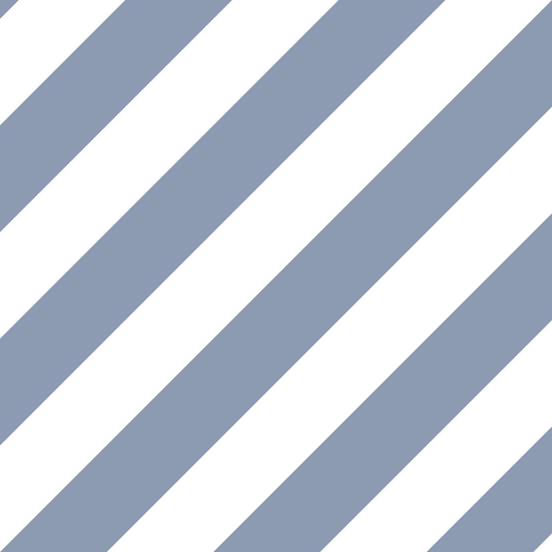 Norwall ST36916 Diagonal Stripe PrePasted Wallpaper, Blue, Denim