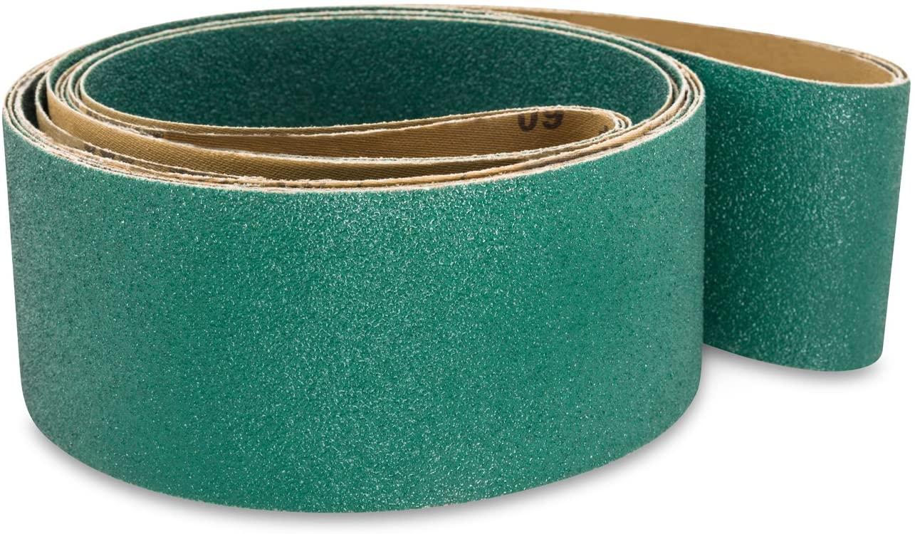 Red Label Abrasives 3 X 79 Inch 50 Grit Metal Grinding Zirconia Sanding Belts, 4 Pack