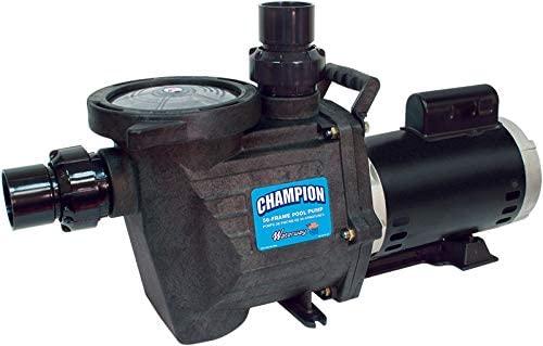 Waterway Champion 56 Frame Single Speed Pool Pump, 1.5 HP Standard Performance