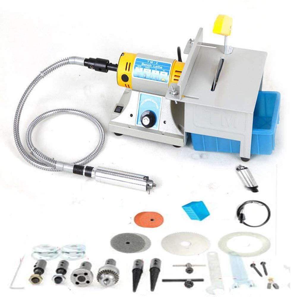 TOPCHANCES TM-2 350W 0-10000r/min Adjustable Jewelry Rock Polishing Buffer Machine Bench Lathe Benchtop Polisher Took Kit 220V