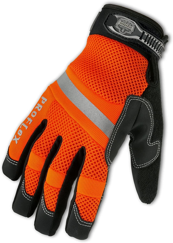 Ergodyne ProFlex 872 High Visibility Mesh Work Gloves, XX-Large