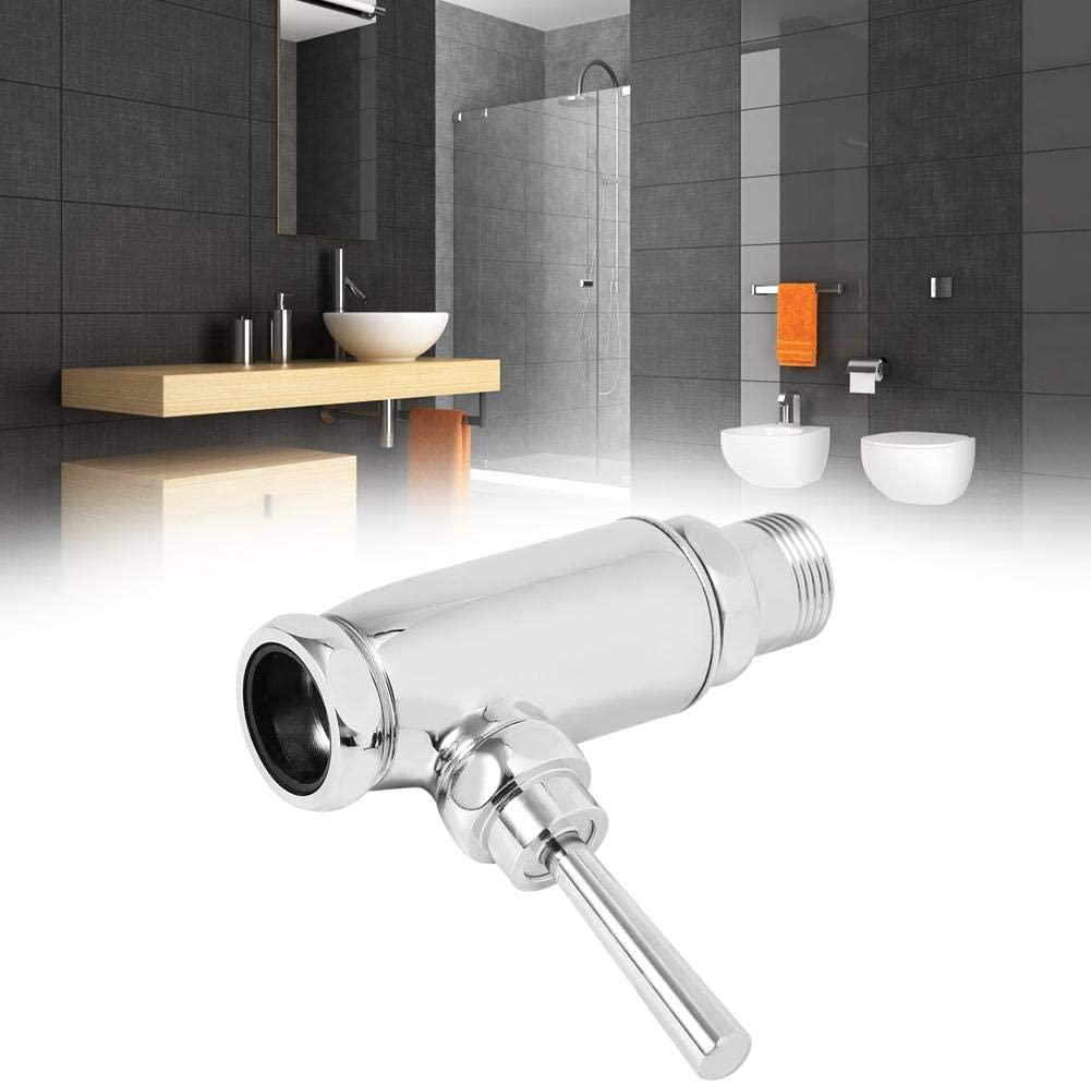Bicaquu Brass Vertical Flush Valve, Urinal Flush Valve, Hand Pressing Type Thickened Flushing for Bathroom