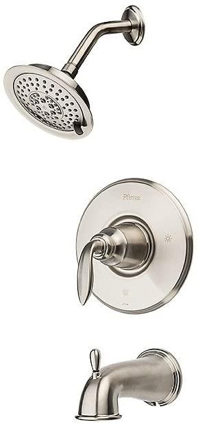 Pfister G89-8CBK Avalon 1-Handle Tub & Shower Trim in Brushed Nickel, 2.0gpm