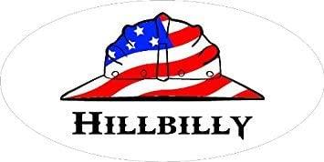 "3 – Hillbilly Hard Hat / Helmet Stickers 1 1/2"" x 3"" H270"
