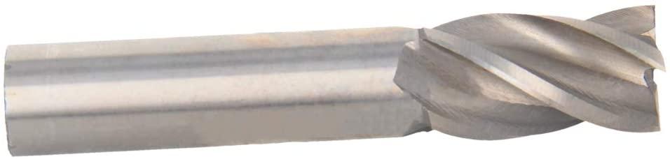 Utoolmart High Speed Steel HSS-AL 4 Flute Straight End Mill Cutter CNC Router Bits 18 x 16 x 32mm 1Pcs