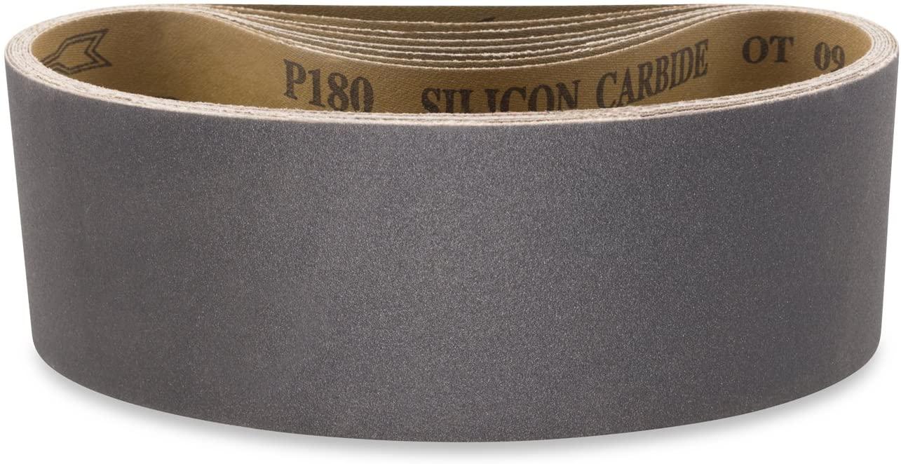 Red Label Abrasives 3 X 24 Inch 800 Grit Silicon Carbide Sanding Belts, 8 Pack