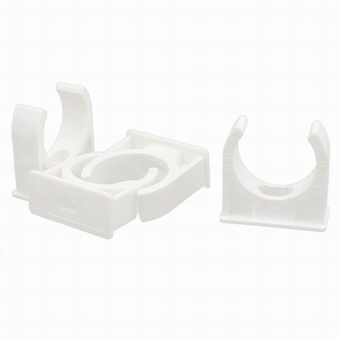 Uptell Water Supply Tube Pipe Hose 31mm Diameter PVC Clamps Clips White 4PCS