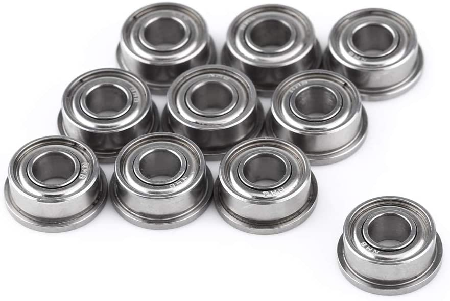 Delaman Bearing - 10pcs F684ZZ Double-Shielded Miniature Flanged Ball Bearings 4x9x4mm for 3D Printer Model