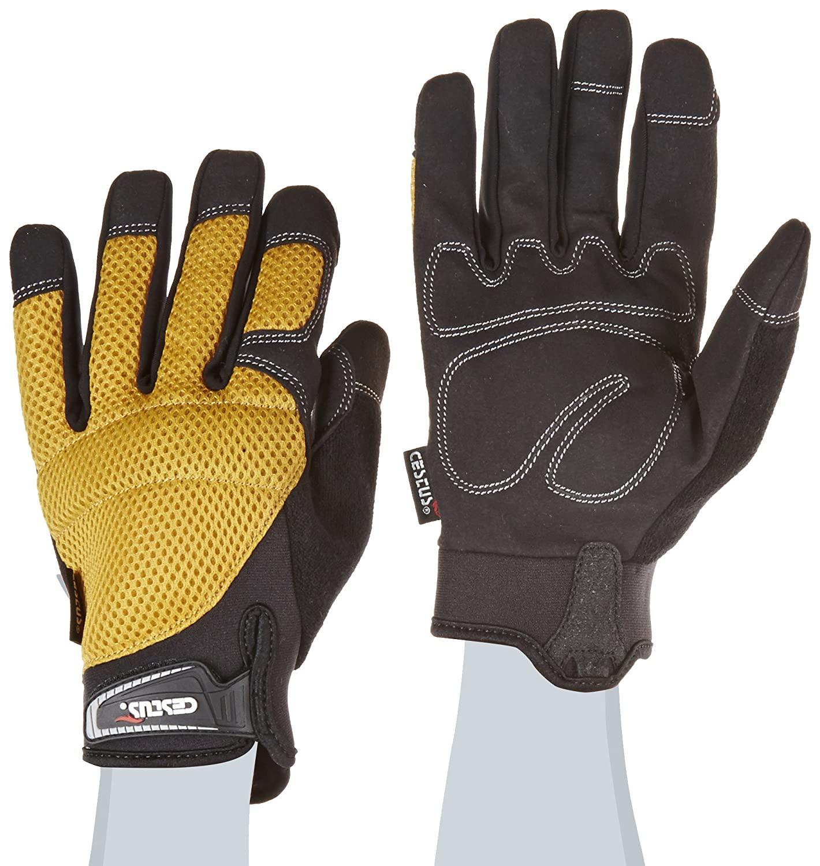 Cestus Trade Series EZ Mesh Utility Glove, Work, Medium, Yellow (Pack of 1 Pair)