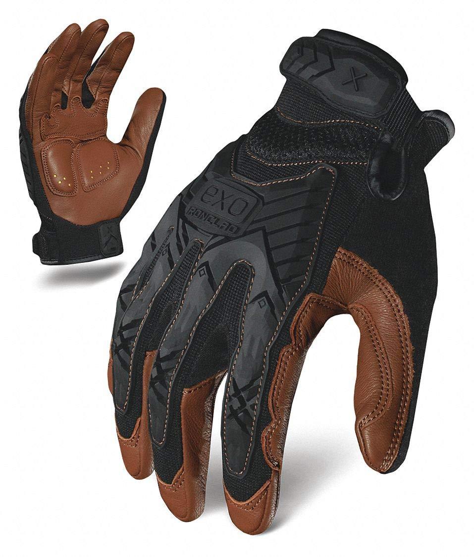 Impact Mechanics Glove, Black/Brown, S, PR