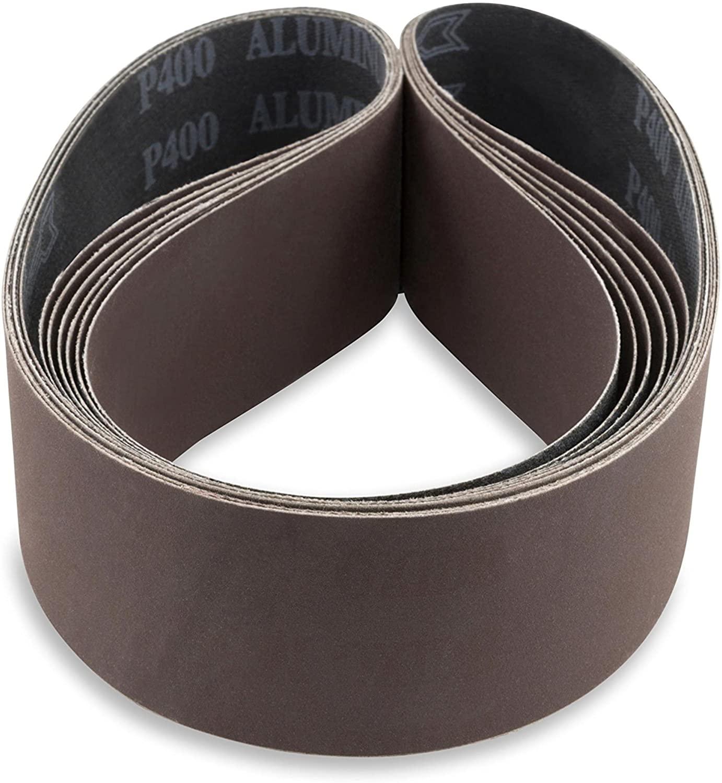 Red Label Abrasives 2 X 30 Inch 100 Grit Aluminum Oxide Premium Quality Multipurpose Sanding Belts, 6 Pack