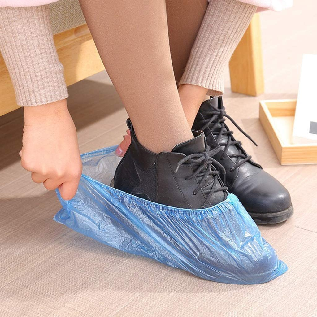 100PC Disposable Shoe Covers, Waterproof Non-Slip Shoe Covers For Indoors Workplace, Indoor Carpet Floor Protection, Boots Cover Workplace Indoor Carpet Overshoes Suit, US Stock