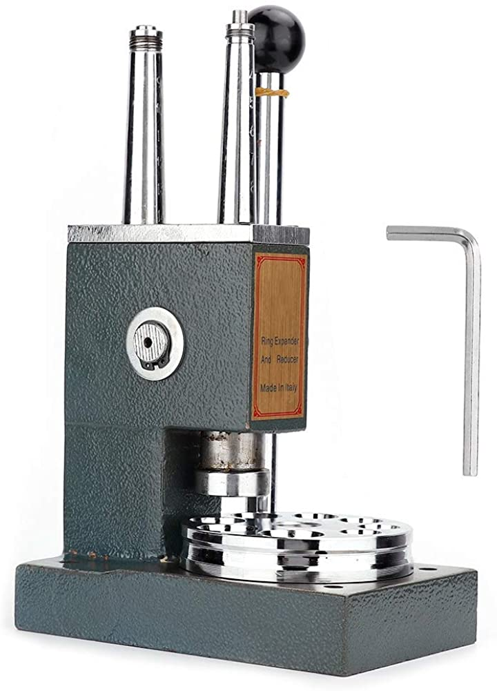 Filfeel Ring Stretcher and Reducer Enlarger Sizing Repair Mandrel Tool Jewelry Making Tools Ring Expander Machine (Double Pole)