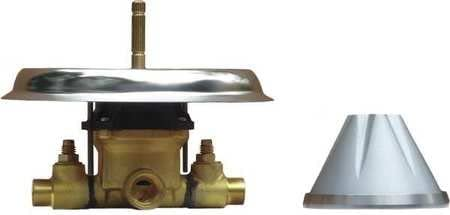 Conical Shower Valve 7-5/16 Dia, Silver