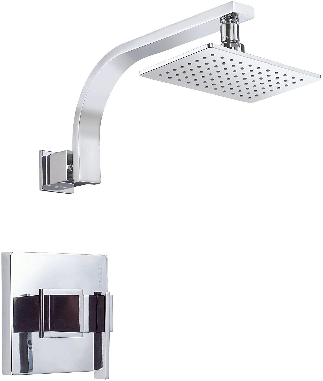Danze D512544T Sirius Single Handle Shower Trim Kit with Efficient Flow Showerhead, Chrome