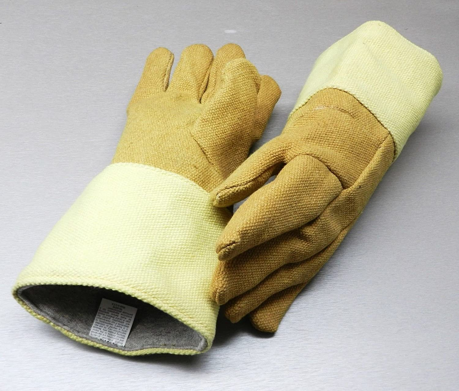 GLOVES HIGH TEMPERATURE GLOVE HEAT RESISTANT KEVLAR - PBI 14 PAIR Rated 1400F (LZ 1.1 FRE) NOVELTOOLS