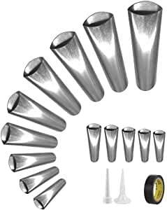 Puimentiua Perfect Caulking Kit 14/16/18/23Pcs Caulk Nozzle Applicator Reusable Caulking Finishing Tool Stainless Steel Sealant Caulking Tool Kit for Kitchen Bathroom Window Sink Joint