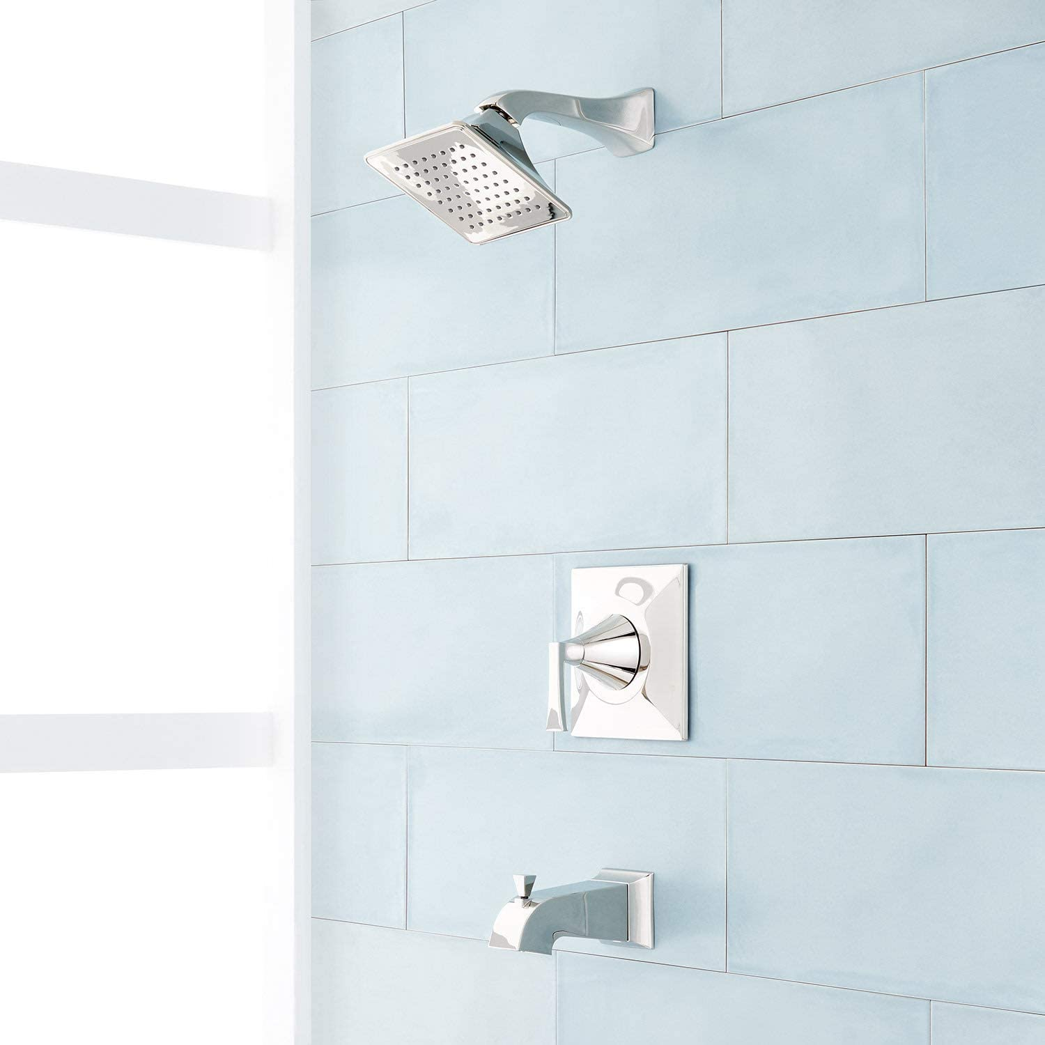 Signature Hardware 948888-6-LV Vilamonte Pressure Balanced Tub and Shower Trim Package with 1.8 GPM Single Function Shower Head
