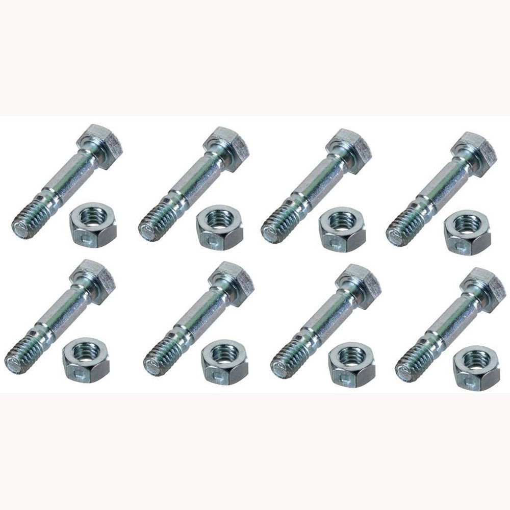 (8) Replacement Shear Pins w/Bolts Fits Craftsman Snowblowers 88289