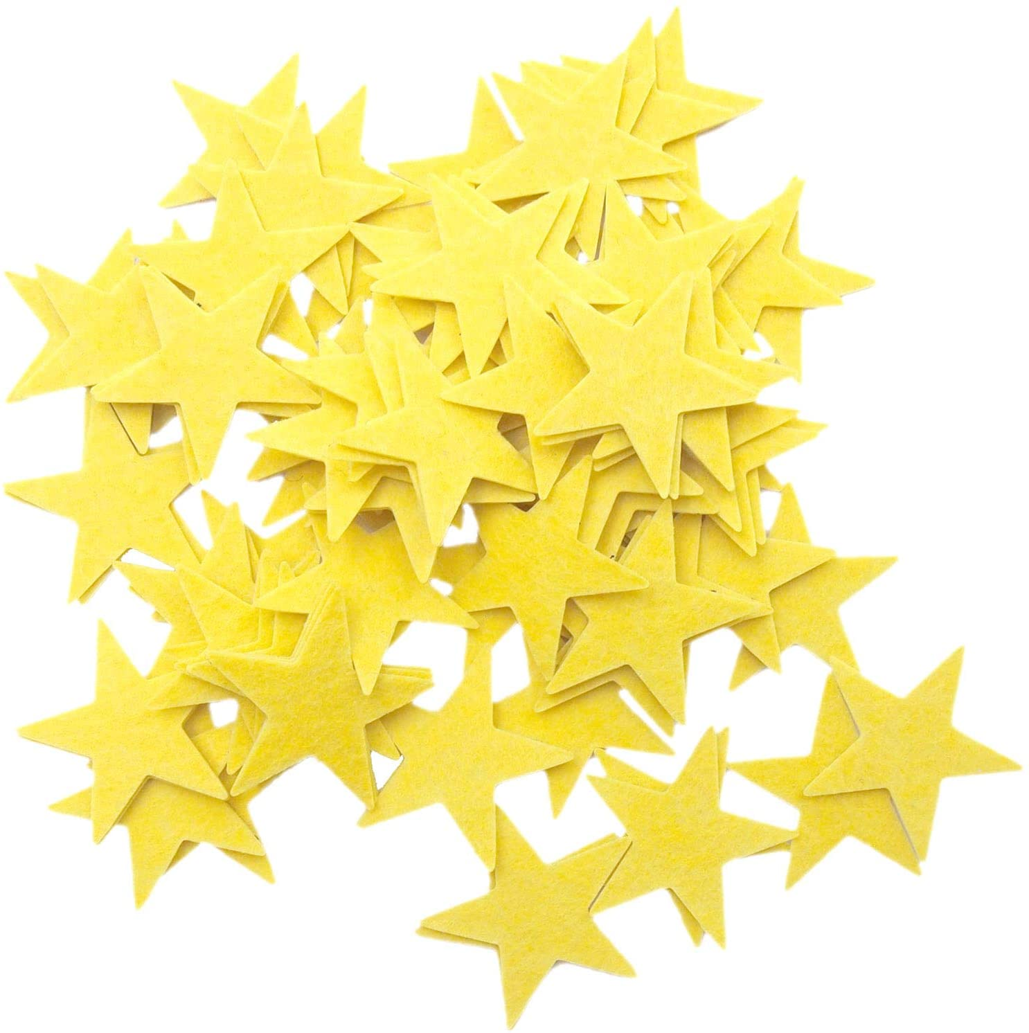 Playfully Ever After 1.5 inch Stiff Felt Stars 88pc (Yellow)