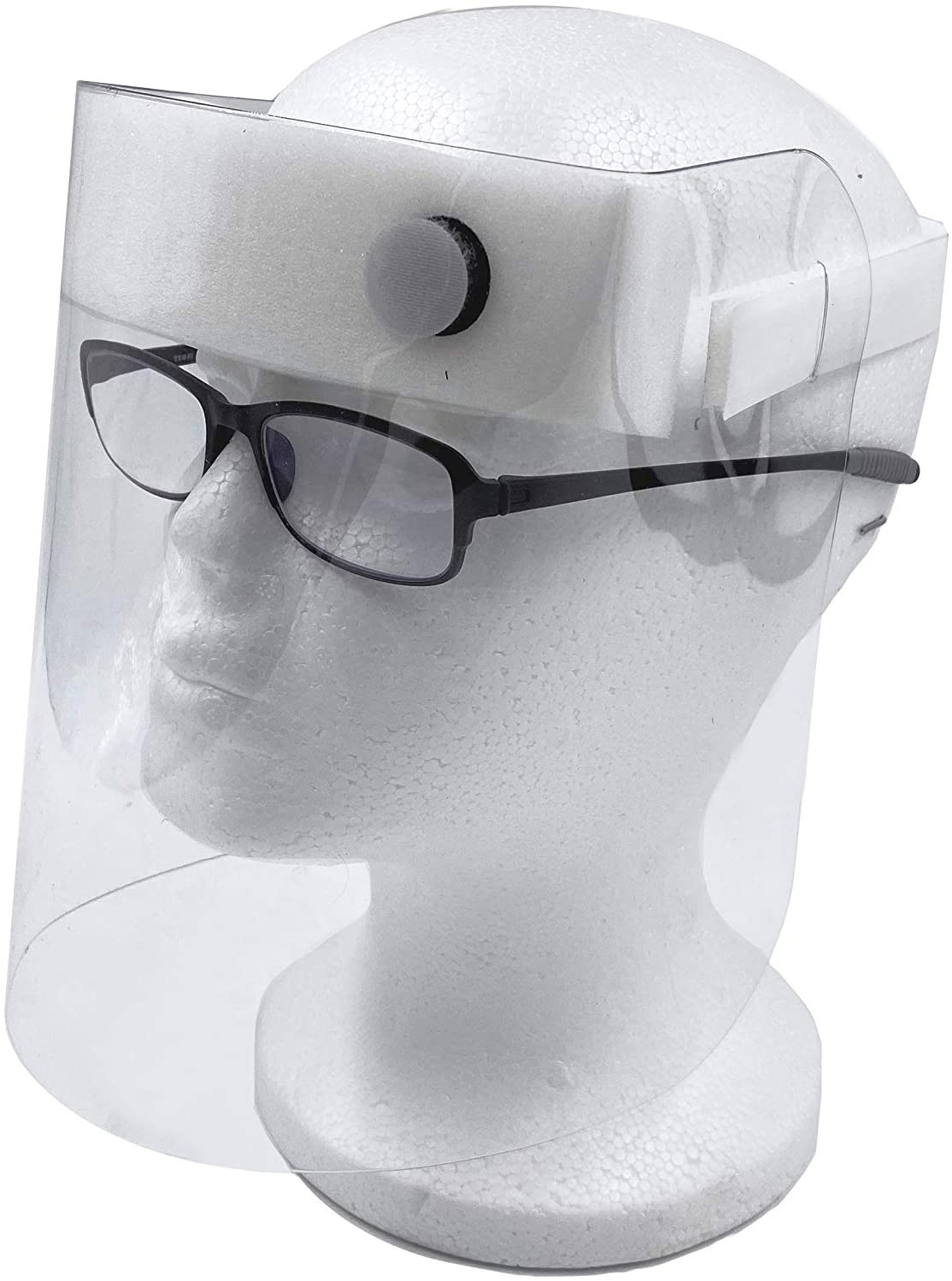 LAMINET Clear Protective Face Shield w/Adjustable Strap for Custom Fit, Reusable & Washable - Pack of 1 | MADE IN THE USA