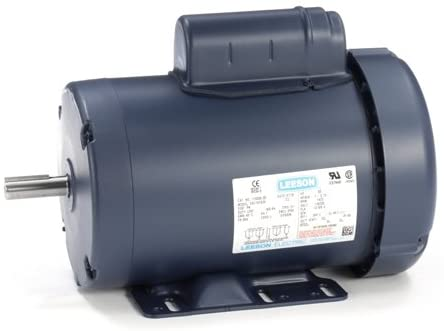Leeson Electric 110066.00 - General Purpose Motor- Special Voltage - 1 ph, 1 hp, 1500 rpm, 110/220 V, 56H Frame, Totally Enclosed Fan Cooled Enclosure, 50 Hz, Rigid base Mount