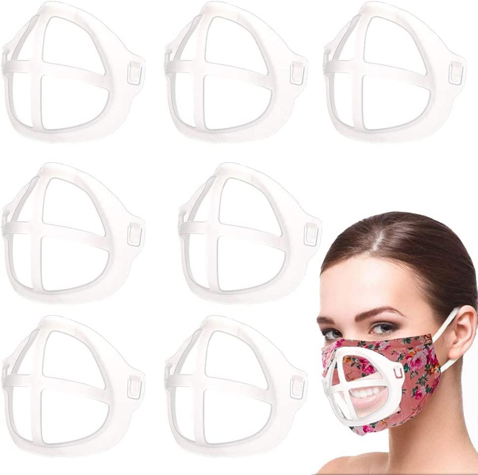 Mask Inner Holder 3D Support Bracket Lipstick Protection Frame,Reusable and Food Grade,9pcs