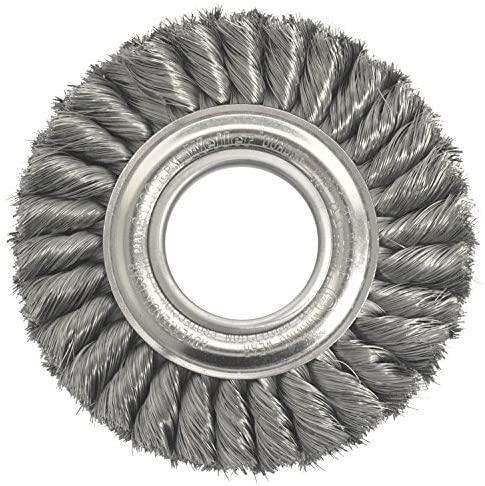 Weiler 09160 - Wheel Brush - 6 in Diam, 2 in Arbor Dia, 7/8 in Width, 8000 RPM