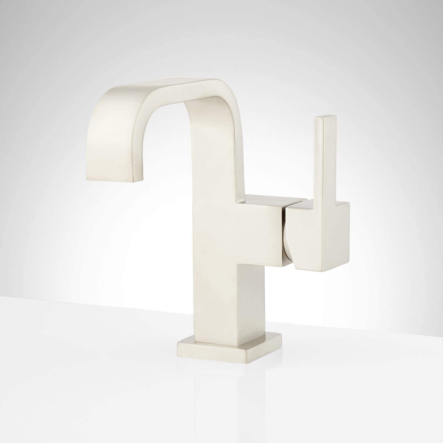 Signature Hardware 948580 Rigi 1.2 GPM Single Hole Bathroom Faucet with Pop-Up Drain Assembly