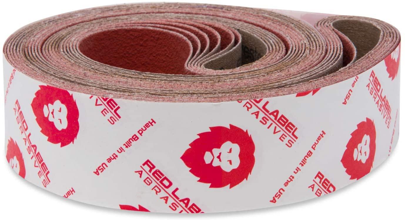 Red Label Abrasives 2 X 36 Inch 60 Grit Metal Grinding Ceramic Sanding Belts, Extra Long Life, 6 Pack