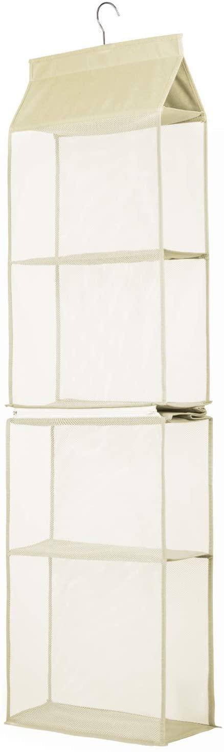 TABITORA Detachable Hanging Handbag Organizer Easy Unpack Hanging Organizer For Bags Beige