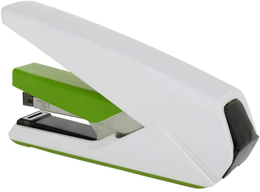 QINREN 30 Sheets Effortless Heavy Duty Stapler Paper Book Binding Stapling Stationery,Green,Plastic,Metal