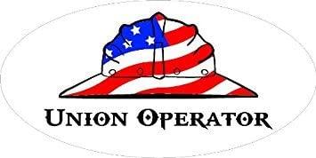 "3 – Union Operator Hard Hat / Helmet Stickers 1 1/2"" x 3"" H291"