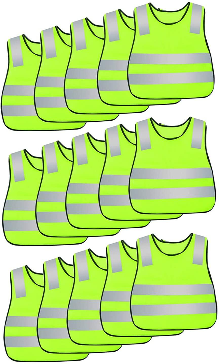 Kids Reflective Vest Bulk High Visibility Traffic Construction Worker Waistcoat Garbage Man Dress Up Costume