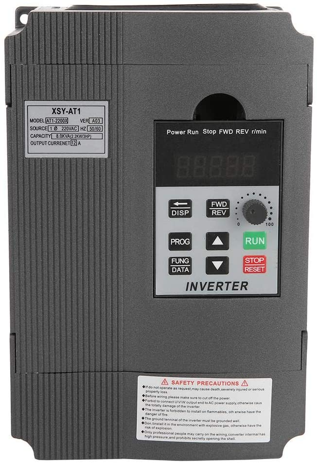 VIFER Frequency Transformer Universal 220V Variable Frequency Drive VFD Frequency Inverter Converter Variable Speed Drive