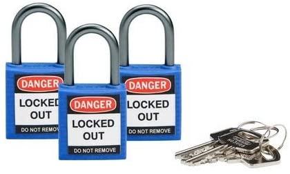 Brady 118959, Blue Compact Safety Lock, (10 Packs of 3 pcs)
