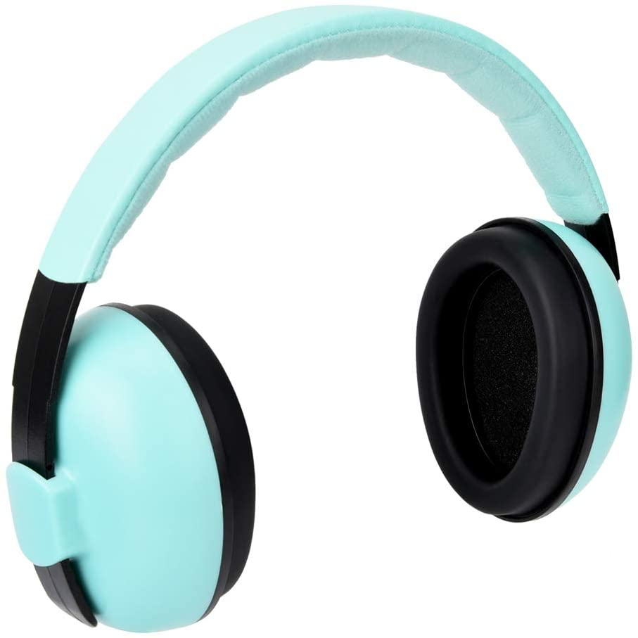 Yanmis Kids Ear Protection, Protection Earmuffs, 27dB SNR ABS & Sponge 6.7x6.3x3.1inch Portable 25dB NRR for Toddlers for Kids(Green)