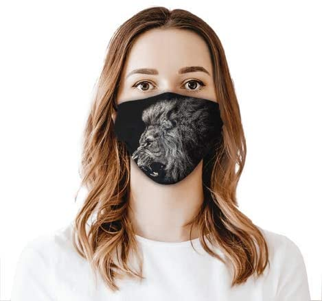 Lion Face Shield Mouthcloth Face Scarf Mask Men Women Washable Anti-Dust Unisex